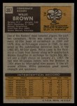 1971 Topps #207  Willie Brown  Back Thumbnail
