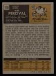 1971 Topps #176  Mac Percival  Back Thumbnail