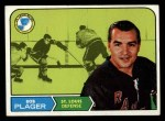 1968 Topps #112  Bob Plager  Front Thumbnail