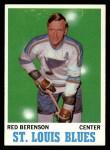 1970 Topps #103  Red Berenson  Front Thumbnail