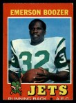 1971 Topps #73  Emerson Boozer  Front Thumbnail