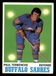 1970 Topps #123  Paul Terbenche  Front Thumbnail
