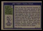 1972 Topps #111  Jim Tyrer  Back Thumbnail