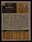 1971 Topps #118  Mel Renfro  Back Thumbnail