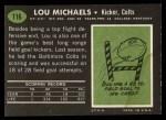 1969 Topps #116  Lou Michaels  Back Thumbnail