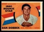1960 Topps #123   -  Dan Dobbek Rookie Star Front Thumbnail