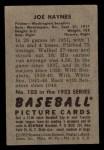 1952 Bowman #103  Joe Haynes  Back Thumbnail