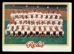 1978 Topps #526   Reds Team Checklist Front Thumbnail