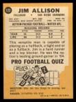 1967 Topps #122  Jim Allison  Back Thumbnail