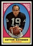 1967 Topps #107  Cotton Davidson  Front Thumbnail
