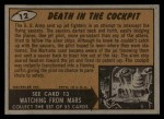 1962 Topps / Bubbles Inc Mars Attacks #12   Death in the Cockpit  Back Thumbnail