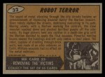 1962 Topps / Bubbles Inc Mars Attacks #32   Robot Terror  Back Thumbnail