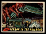 1962 Topps / Bubbles Inc Mars Attacks #34   Terror in the Railroad  Front Thumbnail