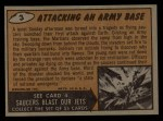 1962 Mars Attacks #3   Attacking an Army Base Back Thumbnail