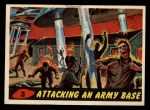 1962 Topps / Bubbles Inc Mars Attacks #3   Attacking an Army Base Front Thumbnail