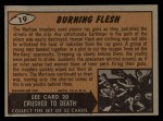 1962 Mars Attacks #19   Burning Flesh Back Thumbnail