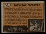 1962 Mars Attacks #35   The Flame Throwers  Back Thumbnail
