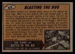 1962 Mars Attacks #43   Blasting the Bug  Back Thumbnail