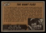 1962 Mars Attacks #27   The Giant Flies  Back Thumbnail