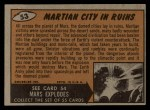 1962 Mars Attacks #53   Martian City in Ruins  Back Thumbnail