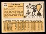 1963 Topps #470  Tom Tresh  Back Thumbnail