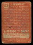 1952 Topps Look 'N See #82  Rembrandt  Back Thumbnail