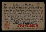 1951 Bowman Jets Rockets and Spacemen #56   Underwater Hunting Back Thumbnail