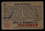 1951 Bowman Jets Rockets and Spacemen #41   Battle of Rockets Back Thumbnail