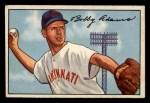 1952 Bowman #166  Bobby Adams  Front Thumbnail