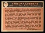 1966 Topps #199   -  Johnny Romano / Floyd Robinson / Bill Skowron ChiSox Sluggers Back Thumbnail