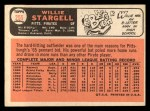 1966 Topps #255  Willie Stargell  Back Thumbnail