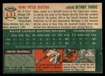 1954 Topps #131  Reno Bertoia  Back Thumbnail