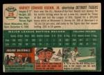 1954 Topps #25  Harvey Kuenn  Back Thumbnail
