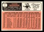 1966 Topps #14  Norm Siebern  Back Thumbnail