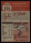 1953 Topps #235  John Hetki  Back Thumbnail