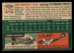 1954 Topps #179  Gair Allie  Back Thumbnail