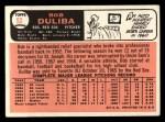 1966 Topps #53  Bob Duliba  Back Thumbnail