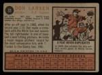 1962 Topps #33  Don Larsen  Back Thumbnail