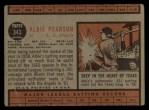 1962 Topps #343  Albie Pearson  Back Thumbnail