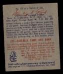 1949 Bowman #135  Stan Rojek  Back Thumbnail