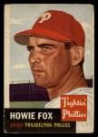 1953 Topps #22  Howard Fox  Front Thumbnail