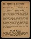 1940 Play Ball #55  Slick Coffman  Back Thumbnail