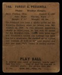 1940 Play Ball #146  Tot Pressnell  Back Thumbnail