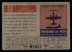 1952 Topps Wings #52   IL-10 Back Thumbnail