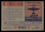 1952 Topps Wings #83   Ambassador Back Thumbnail