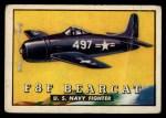 1952 Topps Wings #25   F8F Bearcat Front Thumbnail