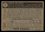 1952 Topps #79  Gerry Staley  Back Thumbnail