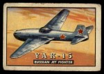 1952 Topps Wings #99   YAK-15 Front Thumbnail