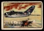 1952 Topps Wings #2   MIG-15 Front Thumbnail