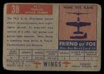 1952 Topps Wings #38   PE-2 Back Thumbnail